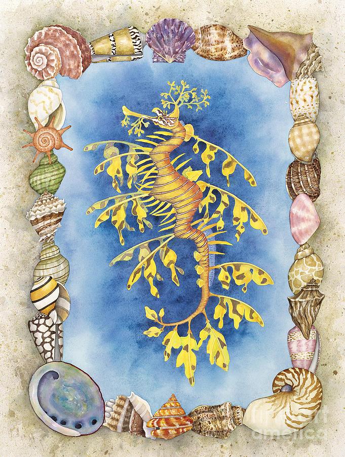 Leafy Sea Dragon Painting - Leafy Sea Dragon by Lucy Arnold