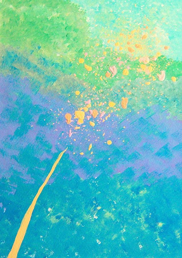 Abstract Painting - Leaning by Helene Henderson