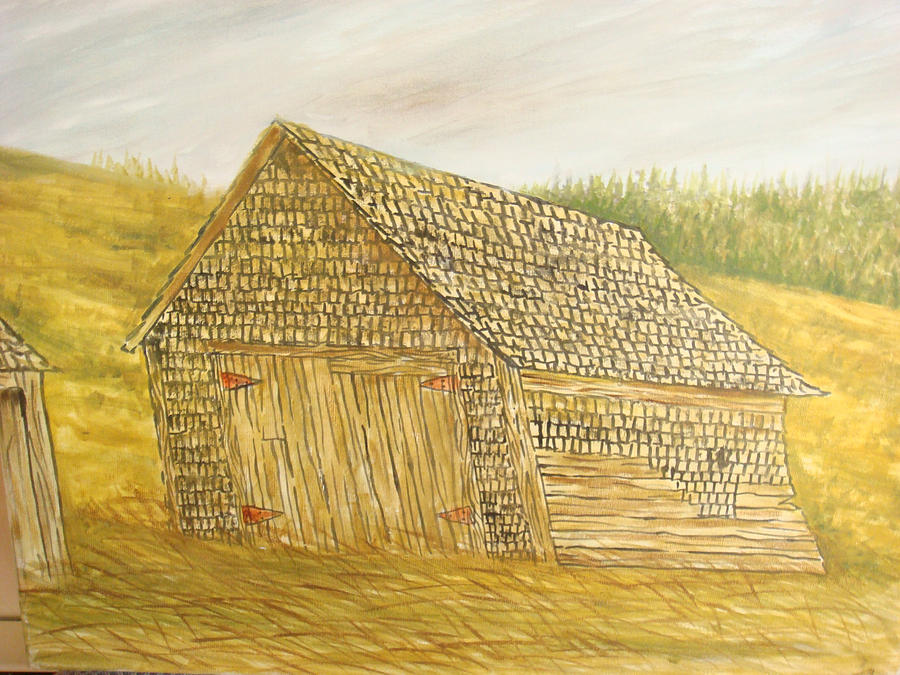 Barn Painting - Leaning In by Norman F Jackson