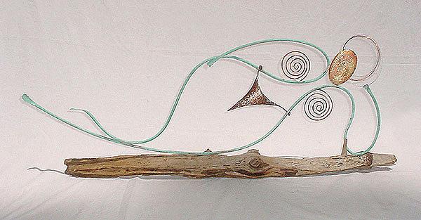 Leaning Lady Sculpture by Steve Ellis