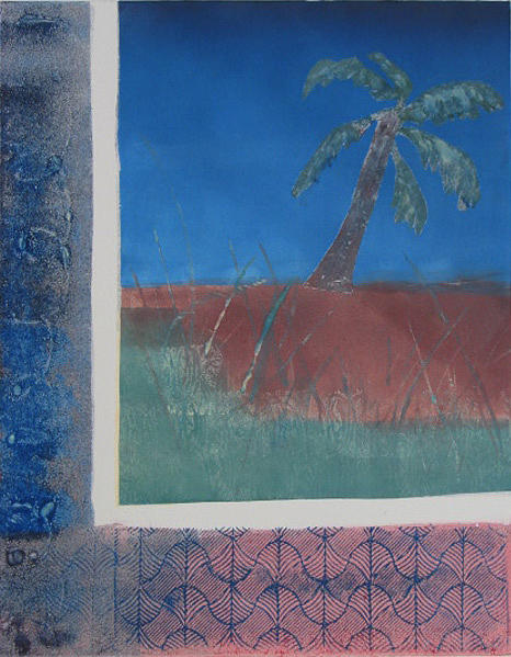 Palm Painting - Leaning Palm by Libby  Cagle