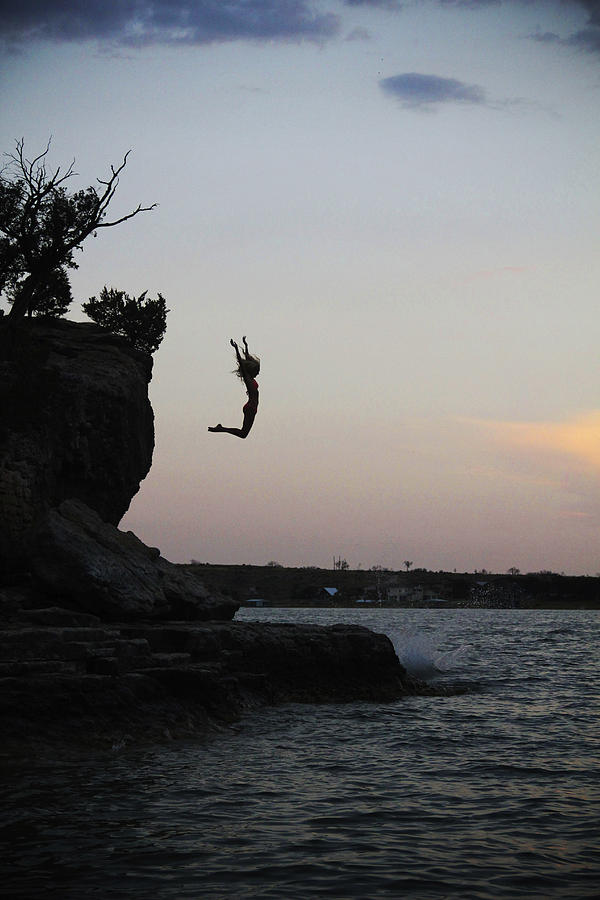 Silhouette Photograph - Leap For Joy by Emily Olson