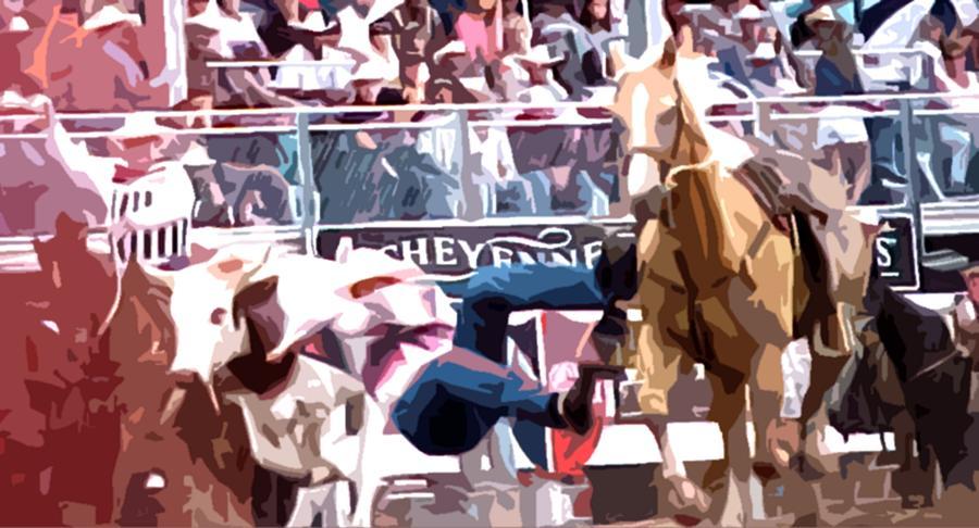 Rodeo Digital Art - Leap Of Faith by Morris Johnston