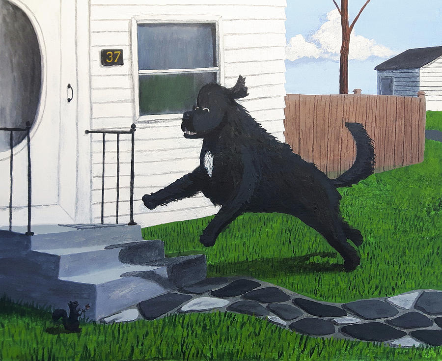 Dog Painting - Leaping Lady Macbeth by Dave Rheaume