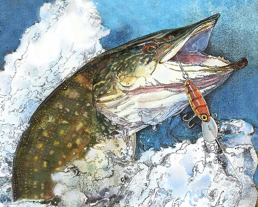 leaping Pike by John Dyess