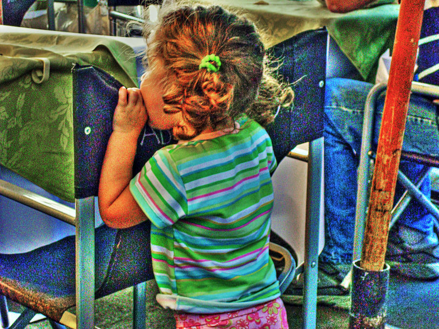 Child Photograph - Learning by Francisco Colon