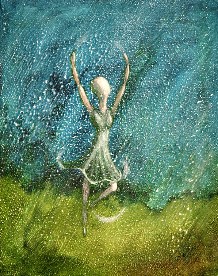 Dance Painting - Learning To Dance In The Rain  by Charlotte Smith