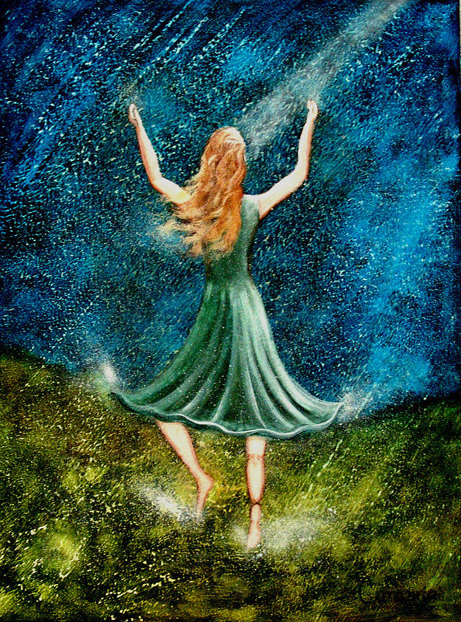 Overcoming Painting - Learning To Dance In The Rain II by Charlotte Smith