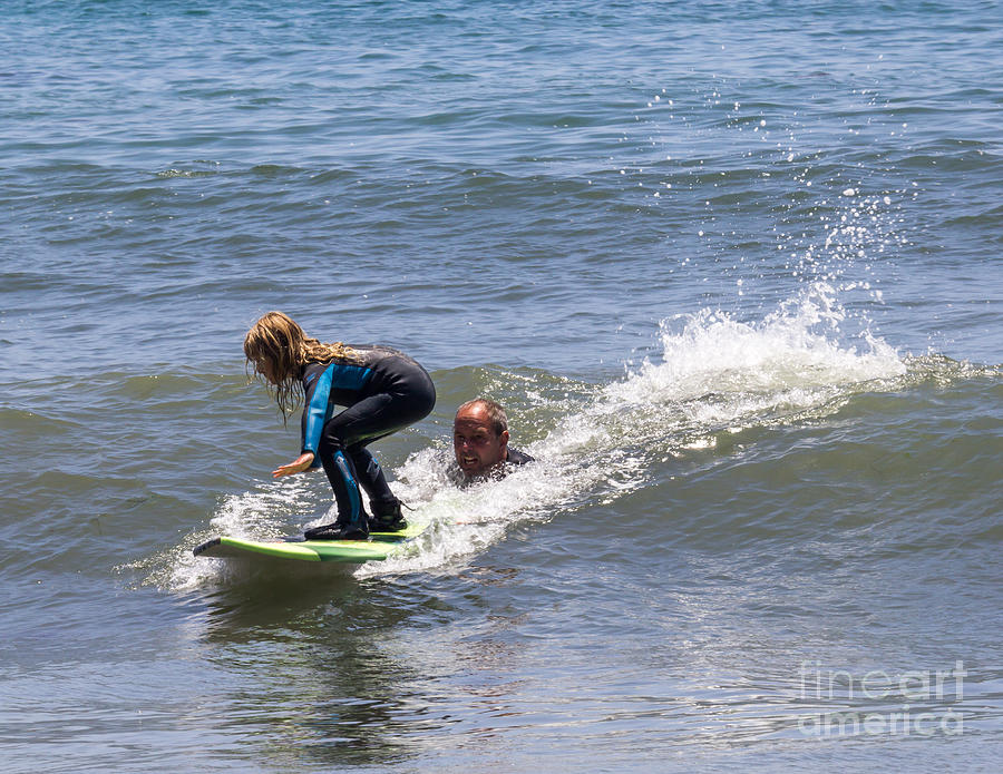 Learning To Surf Photograph