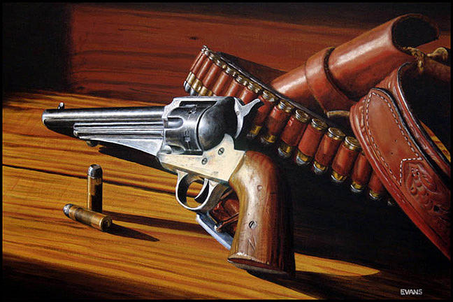 Leather Metal And Wood Painting by Roger Evans