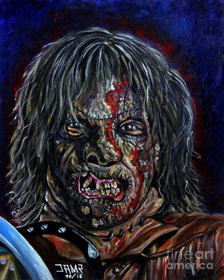 Texas Chainsaw Massacre Painting - Leatherface III by Jose Mendez
