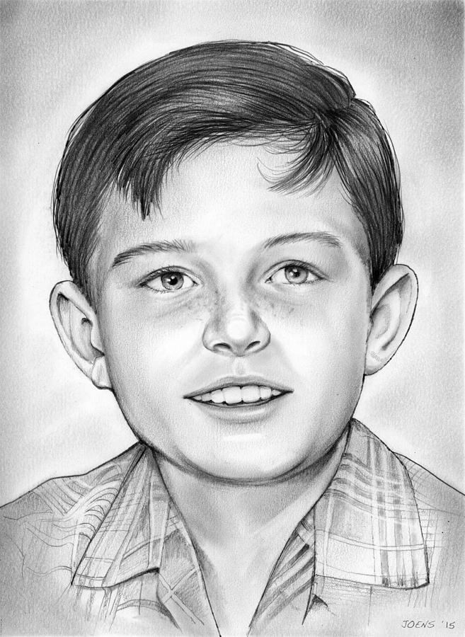 Jerry Mathers Drawing - Leave it to Beaver by Greg Joens