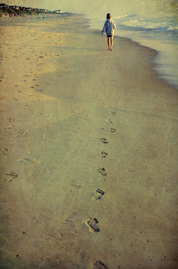 Beach Photograph - Leave Your Mark by JAMART Photography