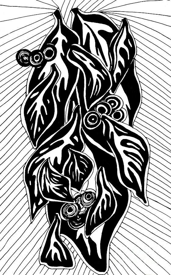 Leaf Drawing - Leaves 2 by Sarah Loft