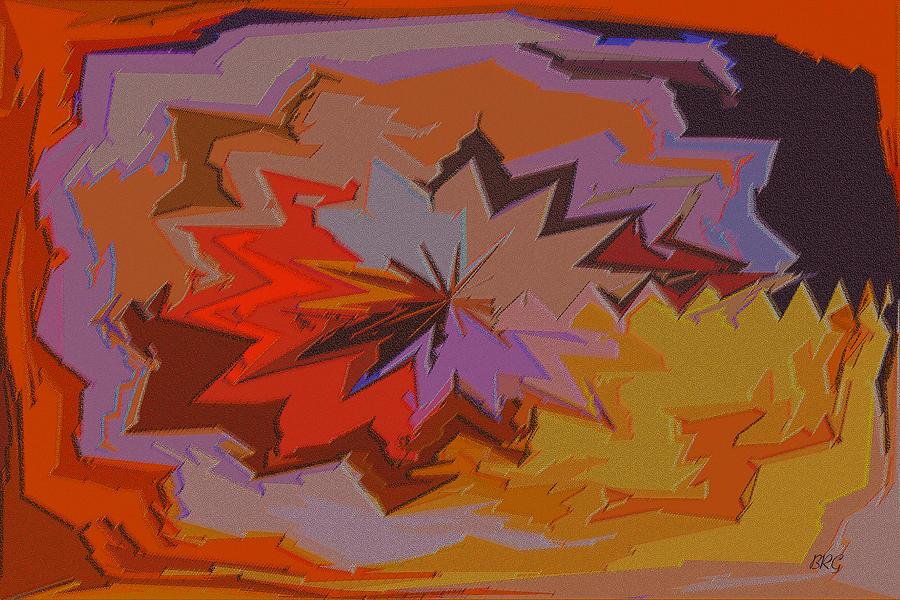 Multicolored Digital Art - Leaves Abstract - Autumn Motif by Ben and Raisa Gertsberg
