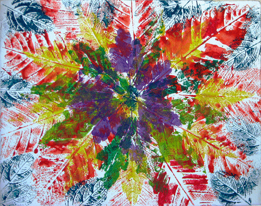 Leaves Painting - Leaves Alone by Libby  Cagle