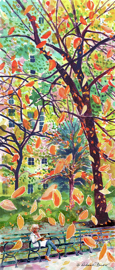 Leaves Painting - Leaves In Nyc by Deborah Burow