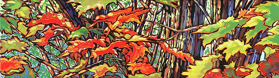 Leaves Painting - Leaves Long by Nadi Spencer