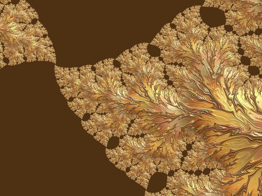 Leaves Of Gold Digital Art - Leaves Of Gold by Susan Maxwell Schmidt