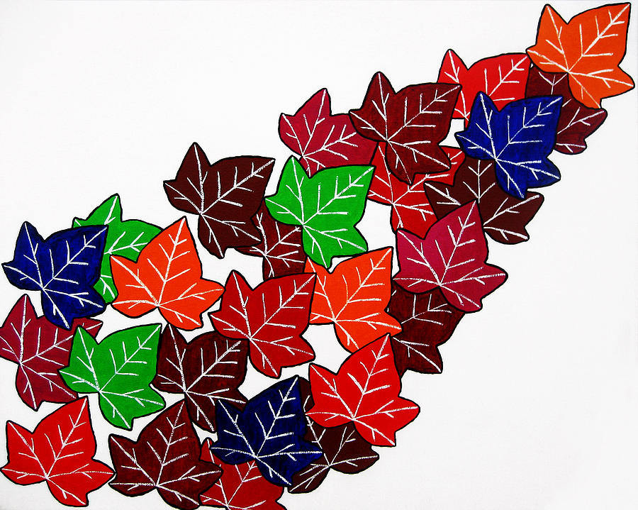 Leaf Painting - Leaves by Oliver Johnston