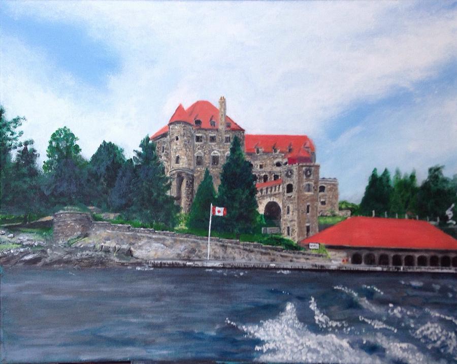 Landscape Painting - Leaving Dark Island, Singer Castle by Joel Charles