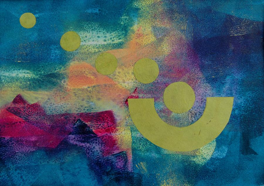 Abstract Painting - Leaving Home by Louise Adams