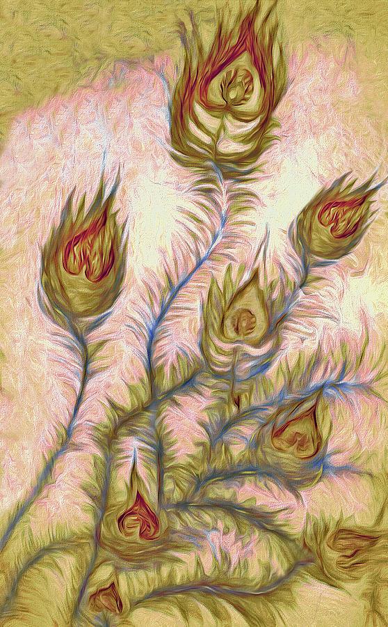 Flower Painting - Leaving Summer Flowers by Alex Galkin