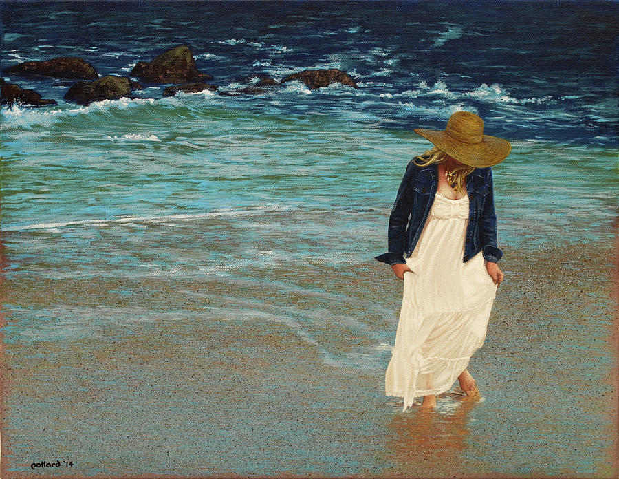 Beach Painting - Leaving the Beach by Glenn Pollard