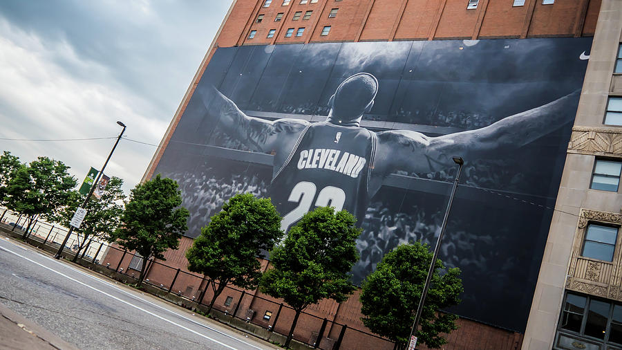 Cleveland Photograph - Lebron James Banner by Alex Farmer