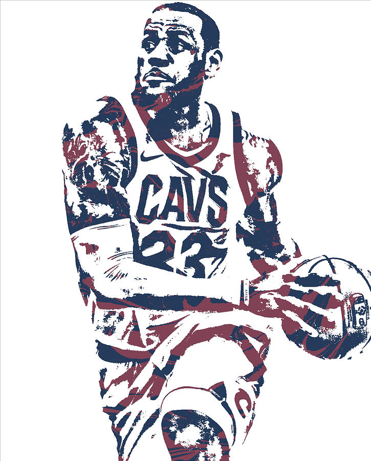 b7577ebc7 Lebron James Cleveland Cavaliers Pixel Art 50 Mixed Media by Joe ...