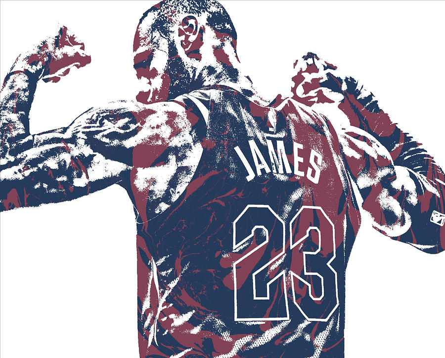 e6f9df89b Lebron James Cleveland Cavaliers Pixel Art 53 Mixed Media by Joe ...