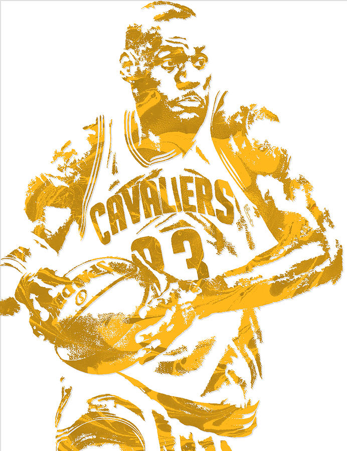 db63cfaa0 Lebron James Cleveland Cavaliers Pixel Art 6 Mixed Media by Joe ...