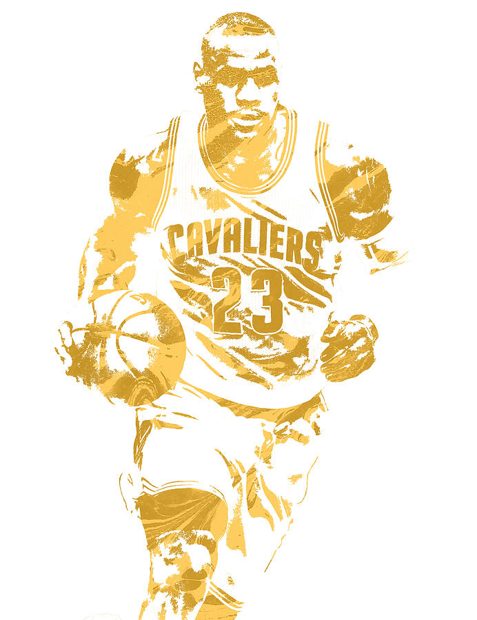 3d7ca67ac Lebron James Cleveland Cavaliers Pixel Art 7 Mixed Media by Joe ...