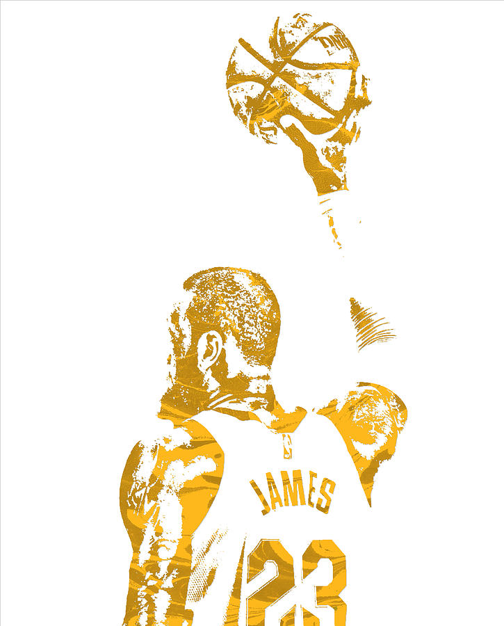 c12699a5e Lebron James Cleveland Cavaliers Pixel Art 71 Mixed Media by Joe ...
