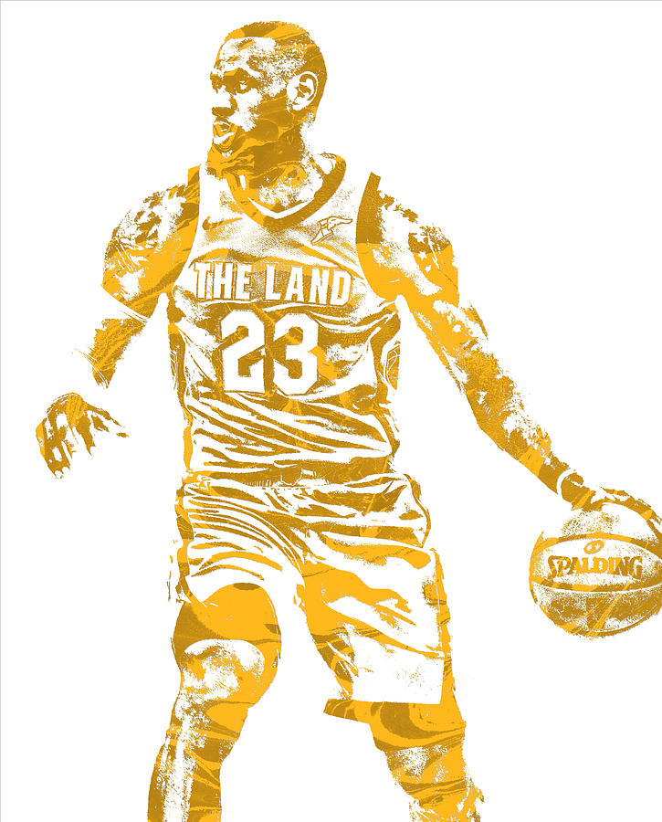 3b673d266 Lebron James Cleveland Cavaliers Pixel Art 72 Mixed Media by Joe ...