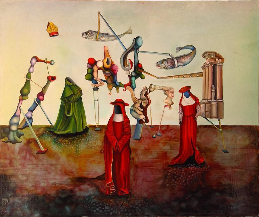 Surreal Painting - Lectura Sagrada by Francesc Moresmont