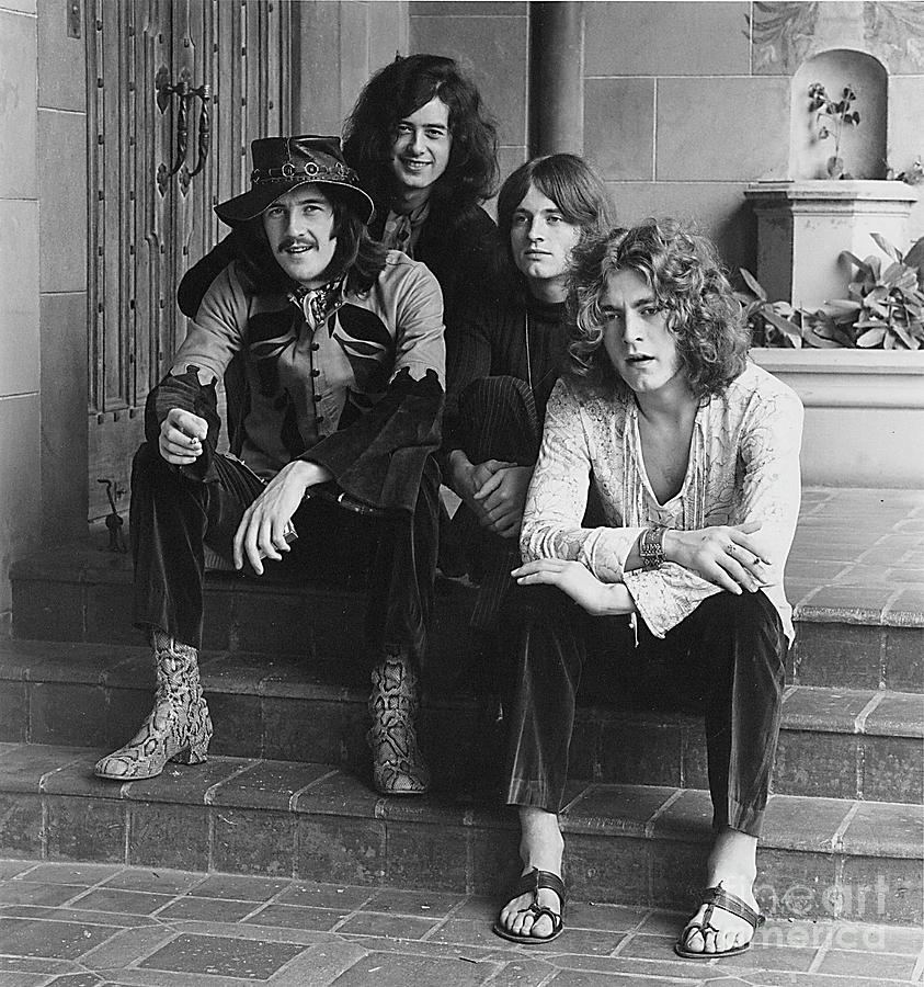 Led Zeppelin Photograph - Led Zeppelin At The Chateau Fine Art Print by Jay Thompson
