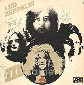 Jimmy Page Photograph - Led Zeppelin Autographed Album  by Pd
