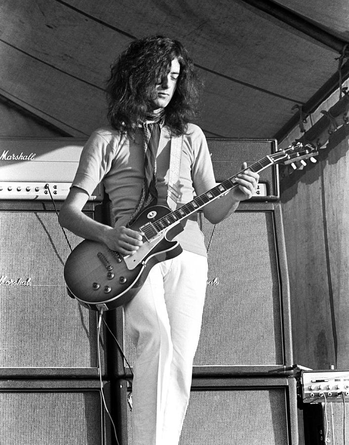 Led Zeppelin Photograph - Led Zeppelin Jimmy Page 69 by Chris Walter
