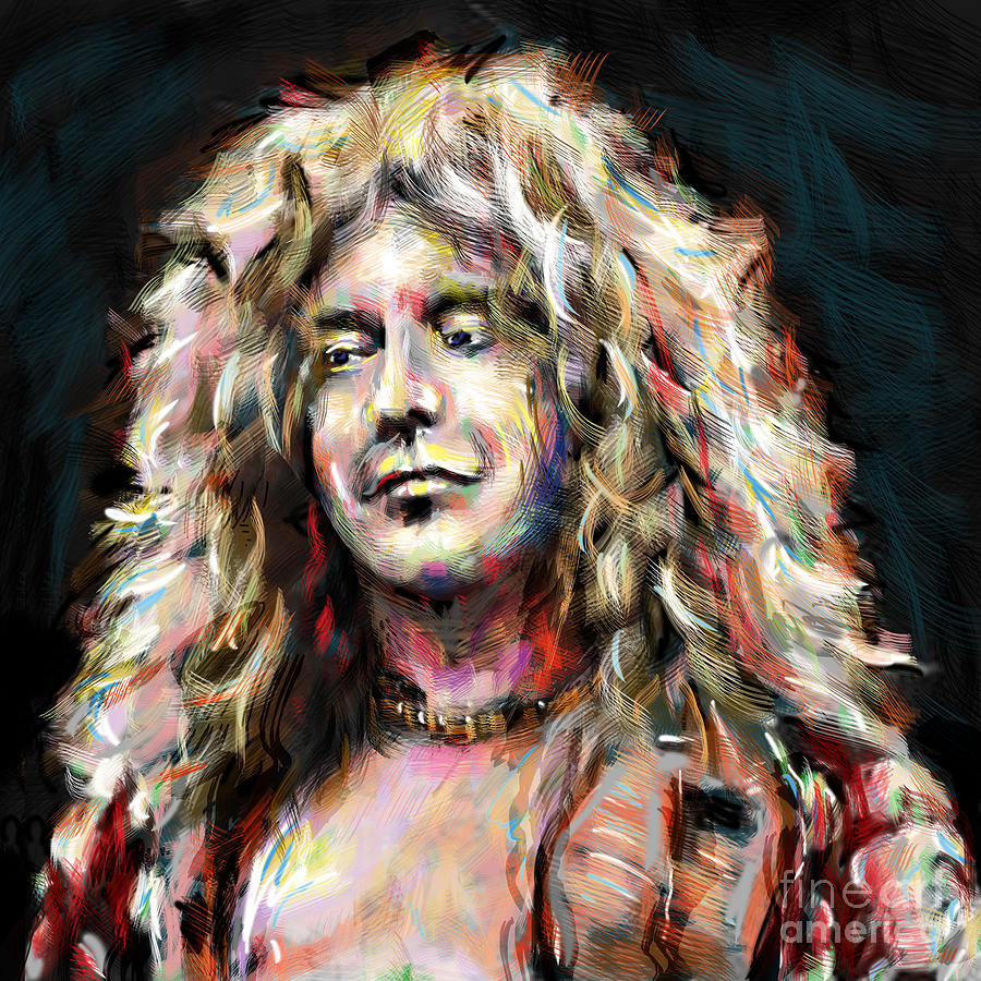 Led Zeppelin Poster Mixed Media - Led Zeppelin Robert Plant by Ryan Rock Artist
