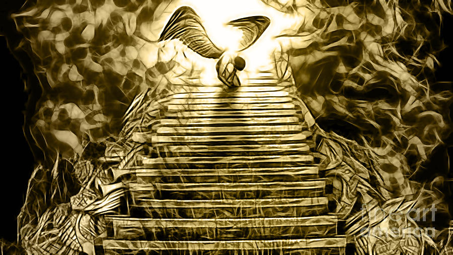 Led Zeppelin Stairway To Heaven Mixed Media by Marvin Blaine
