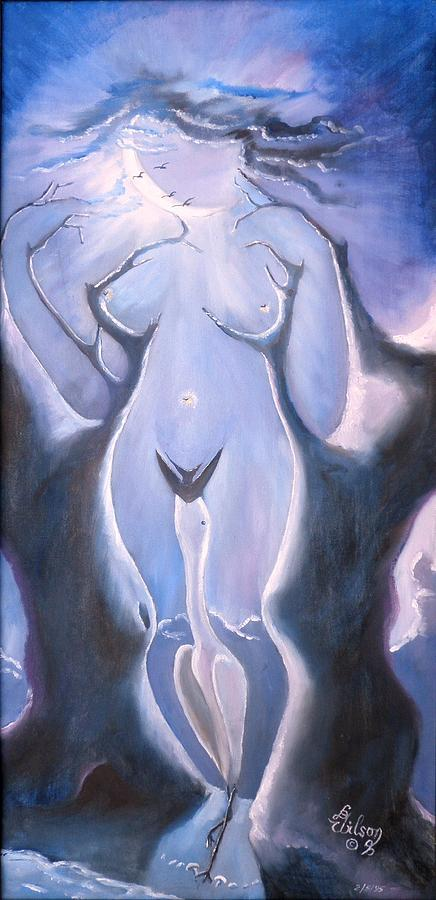 Nightscape Painting - Leda In Ecstasy by David G Wilson