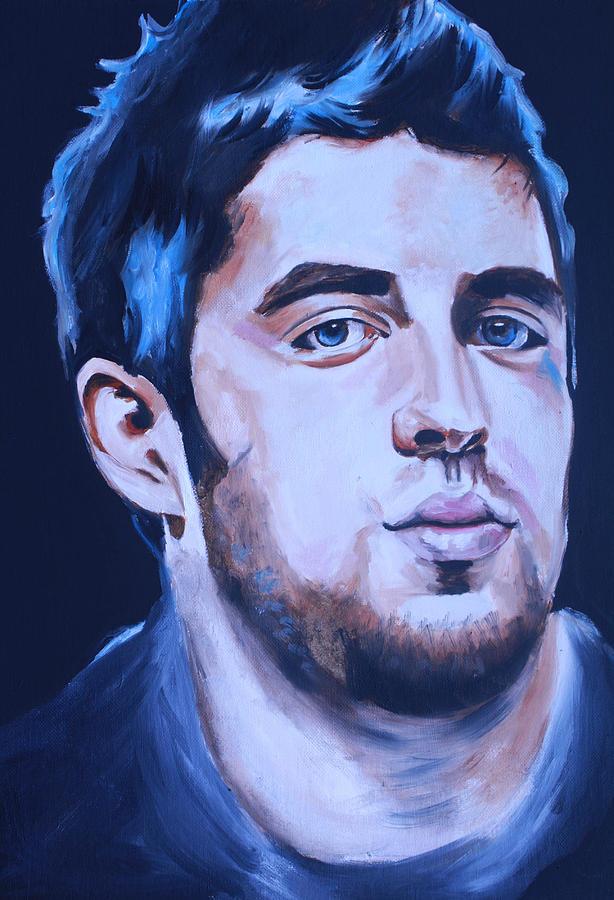 Lee Dewyze Posters Painting - Lee Dewyze American Idol Portrait by Mikayla Ziegler