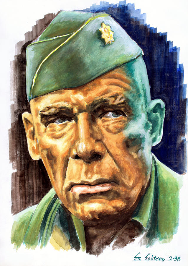 Lee Marvin Painting - Lee Marvin Dirty Dozen by Star Portraits Art