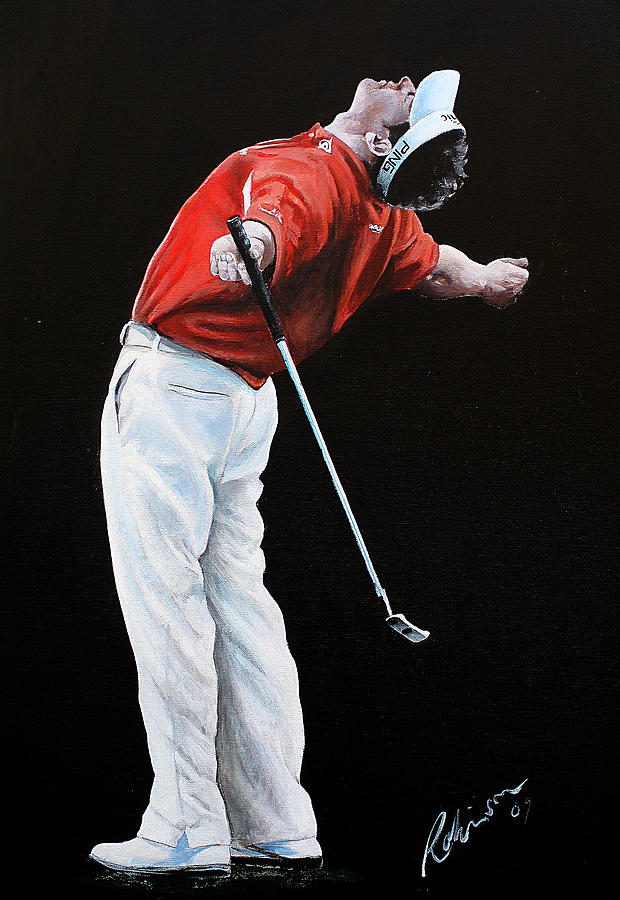 Lee Westwood Painting - Lee Westwood by Mark Robinson