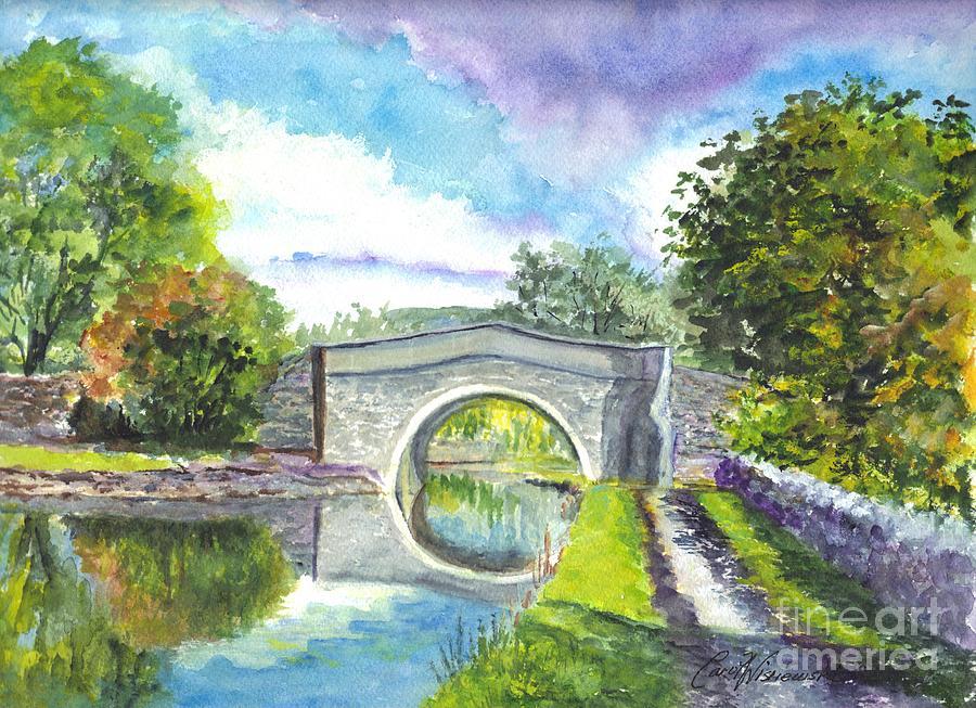 United Kingdom Painting - Leeds Canal Liverpool by Carol Wisniewski
