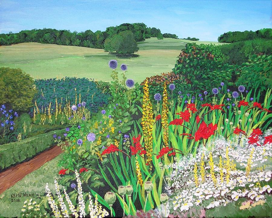 Leeds Painting - Leeds Garden by Keith Wilkie