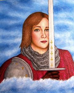 Portrait Painting - Leelee Sobieski As Joan Of Arc by Stephen Warde Anderson