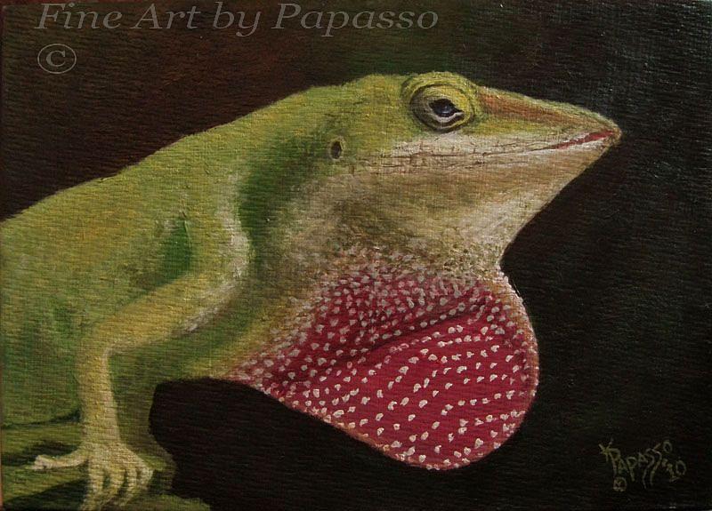 Animal Painting - Leezard by Kathie Papasso