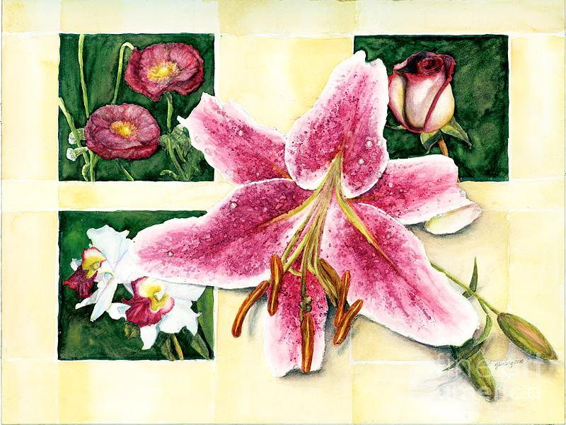Poppy Painting - leFleur - Pinks by Randi Jean Veiberg